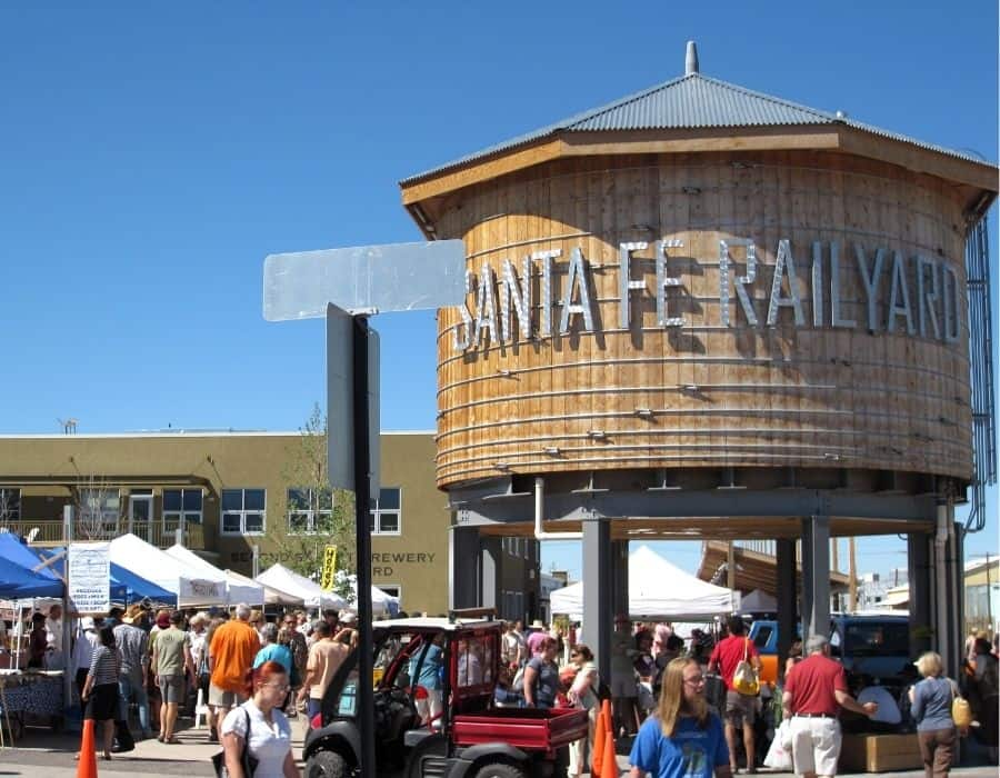The Santa Fe Railyard is considered one of the best farmer's markets in the U.S.
