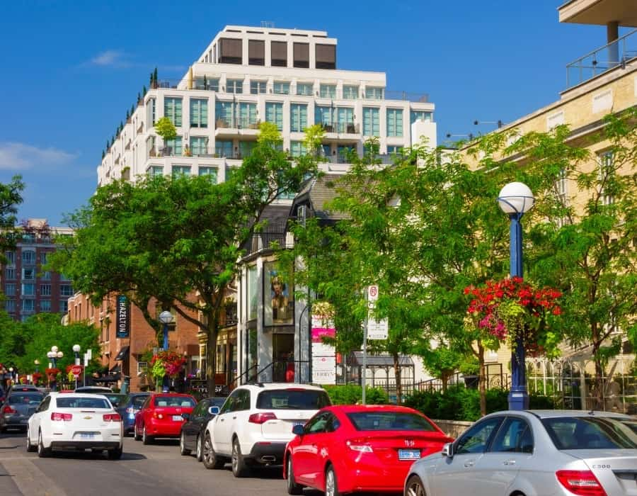 The Yorkville neighbourhood of Toronto